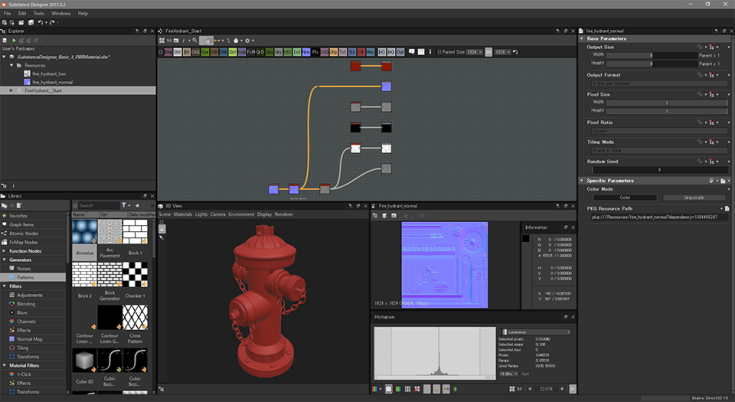 gamecgdrops_20171209_SubstanceDesigner_06_PbrMaterialBlend_03_FireHhydrant_Start.png